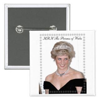 HRH la Princesa de Gales Joyeux Noël Pin Cuadrado
