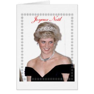 HRH la Princesa de Gales Joyeux Noël Tarjeton