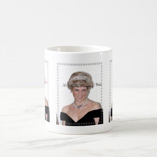HRH la Princesa de Gales Joyeux Noël Taza Básica Blanca