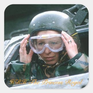 HRH la Princesa Real 1985 Pegatina Cuadrada