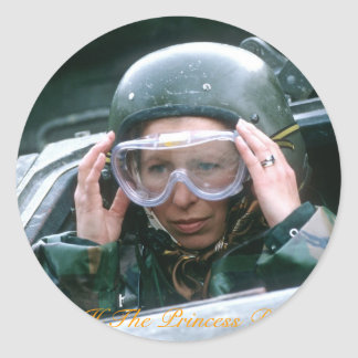 HRH la Princesa Real 1985 Pegatina Redonda