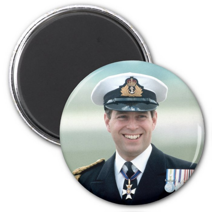 HRH Prince Andrew 2 Inch Round Magnet