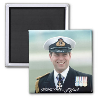 HRH Prince Andrew 2 Inch Square Magnet