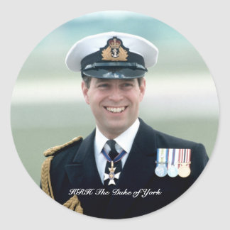 HRH Prince Andrew Classic Round Sticker