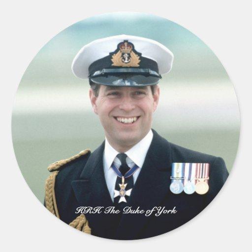 HRH Prince Andrew Classic Round Sticker
