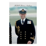 HRH Prince Andrew Poster