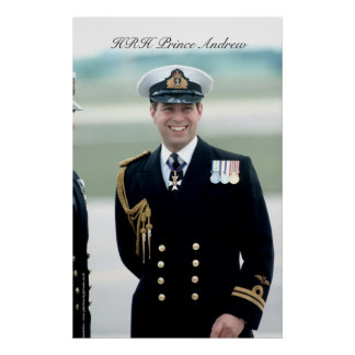 HRH Prince Andrew Poster