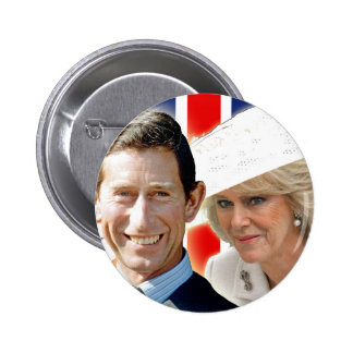 HRH Prince Charles & HRH Duchess of Cornwall Button
