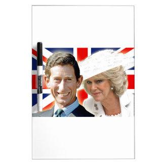 HRH Prince Charles & HRH Duchess of Cornwall Dry Erase Board