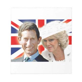 HRH Prince Charles & HRH Duchess of Cornwall Memo Note Pad