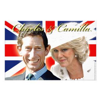 HRH Prince Charles & HRH Duchess of Cornwall Customised Stationery