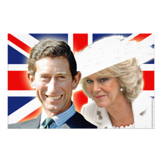 HRH Prince Charles & HRH Duchess of Cornwall Personalized Stationery