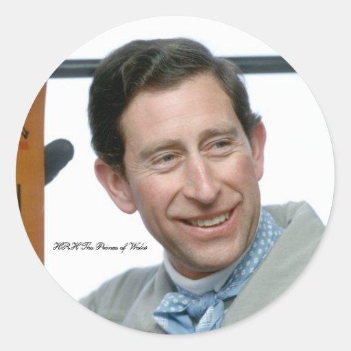 HRH Prince Charles-Switzerland-1989 Classic Round Sticker