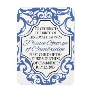 HRH Prince George Blue/White Scroll Magnet