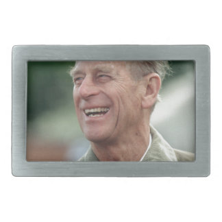 HRH Prince Philip laughing Rectangular Belt Buckles