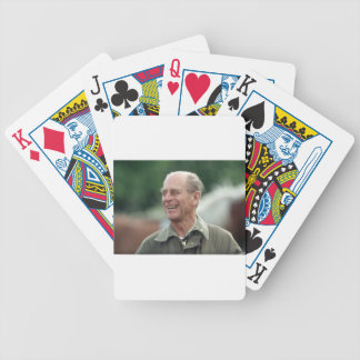 HRH Prince Philip laughing Bicycle Playing Cards