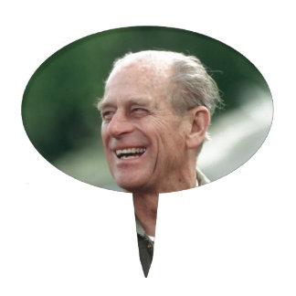 HRH Prince Philip laughing Cake Pick