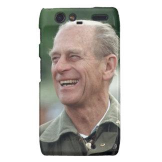 HRH Prince Philip laughing Motorola Droid RAZR Cover