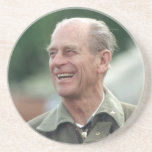 HRH Prince Philip laughing Drink Coasters