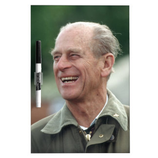 HRH Prince Philip laughing Dry Erase Boards