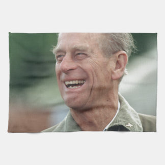 HRH Prince Philip laughing Kitchen Towels
