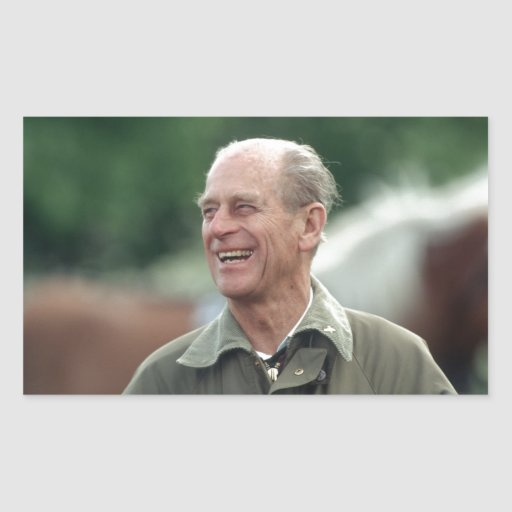HRH Prince Philip laughing Stickers