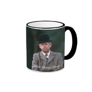 HRH Prince Philip Windsor 1980 Ringer Coffee Mug