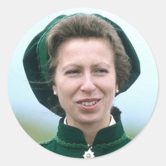 HRH Princess Anne Warminster Classic Round Sticker