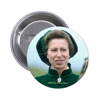HRH Princess Anne Warminster Pinback Buttons