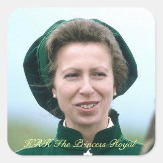 HRH Princess Anne Warminster Square Sticker