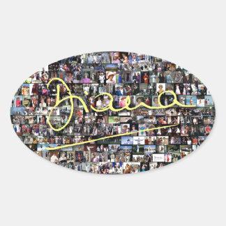HRH Princess Diana - All the photos! Oval Sticker