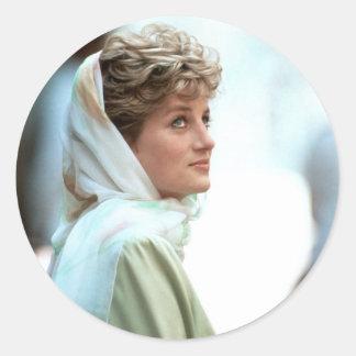 HRH Princess Diana Egypt 1992 Classic Round Sticker