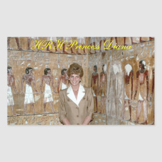 HRH Princess Diana Egypt 1992 Rectangular Sticker