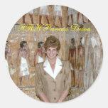 HRH Princess Diana Egypt 1992 Round Sticker