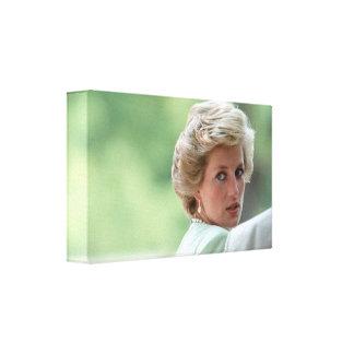 HRH Princess Diana Hungary 1990 Gallery Wrapped Canvas