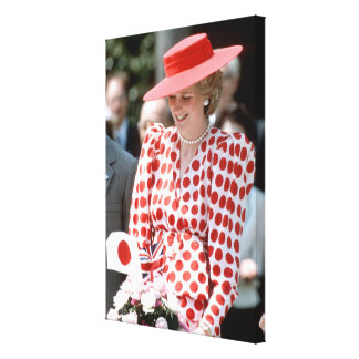 HRH Princess Diana Japan 1986 Canvas Print
