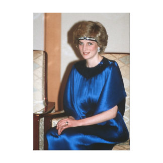 HRH Princess Diana Japan 1986 Canvas Prints