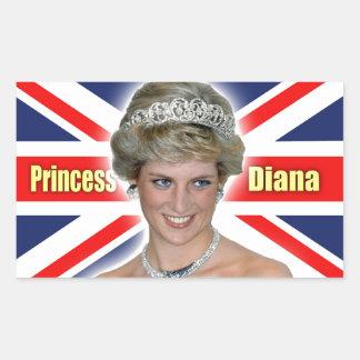 HRH Princess Diana Stunning! Rectangular Sticker