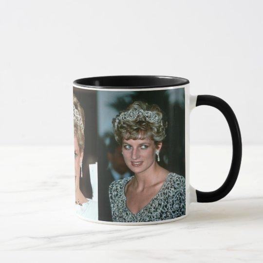 HRH Princess Diana Tiara 3x photos Mug