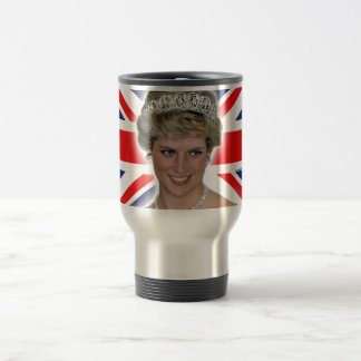 HRH Princess Diana Union Jack 15 Oz Stainless Steel Travel Mug