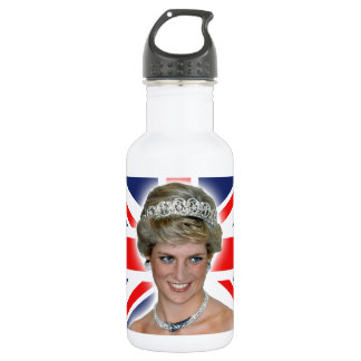 HRH Princess Diana Union Jack 18oz Water Bottle