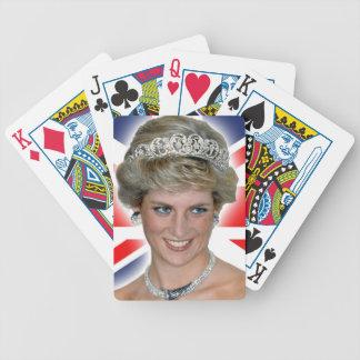 HRH Princess Diana Union Jack Bicycle Playing Cards