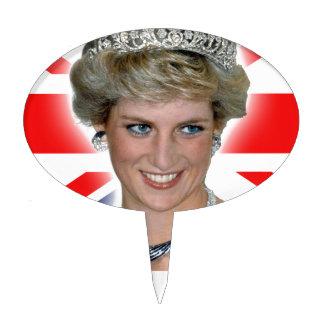 HRH Princess Diana Union Jack Cake Picks