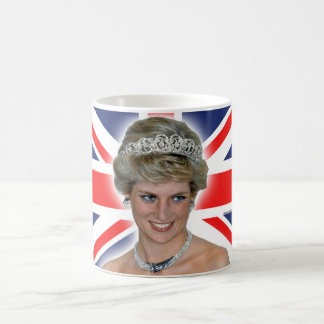 HRH Princess Diana Union Jack Classic White Coffee Mug