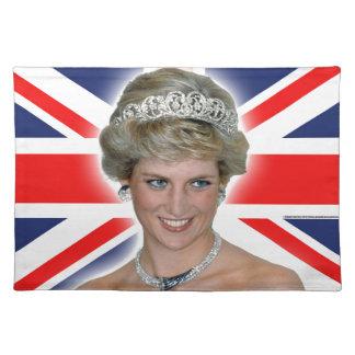 HRH Princess Diana Union Jack Cloth Place Mat