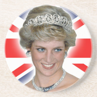 HRH Princess Diana Union Jack Coasters