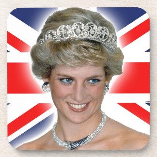 HRH Princess Diana Union Jack Drink Coasters
