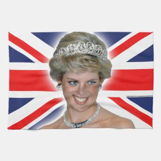 HRH Princess Diana Union Jack Hand Towels