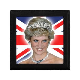HRH Princess Diana Union Jack Jewelry Box
