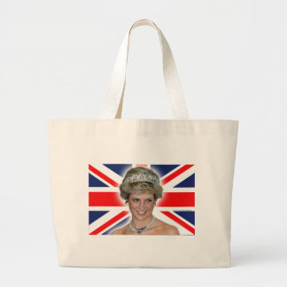 HRH Princess Diana Union Jack Large Tote Bag
